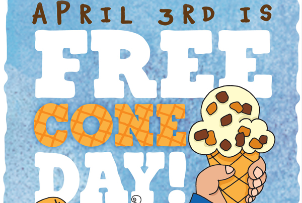 April 3rd is FREE CONE DAY!